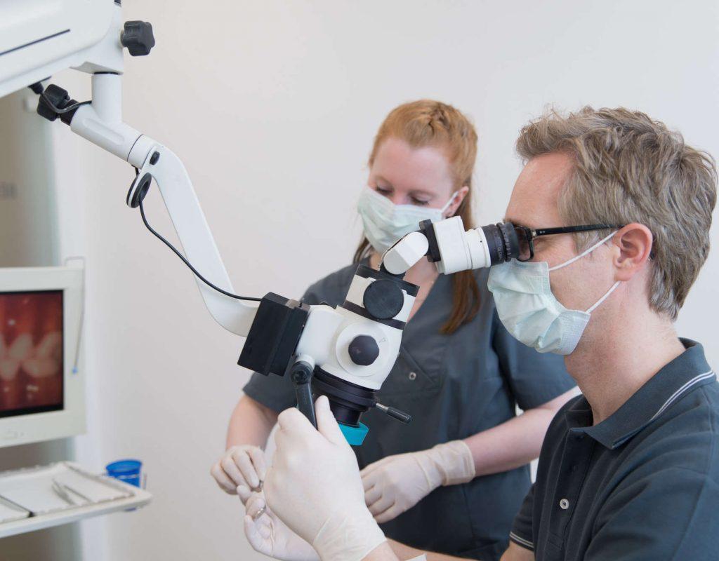 Zahnarzt Knospe bei einer Untersuchung